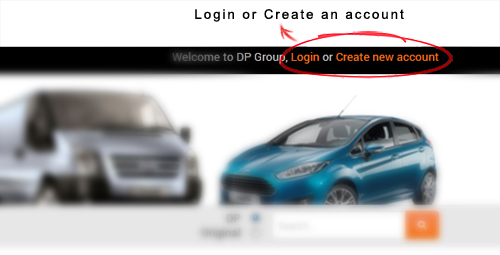 login or create new account